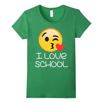 I Love School T-shirt Teachers Students Matching for lover