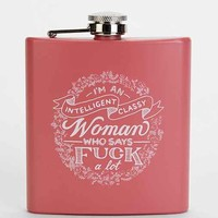Intelligent Classy Woman Flask- Coral One