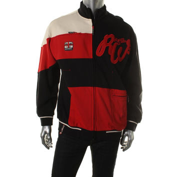 Rocawear Mens Colorblock Fleece Backed Jacket