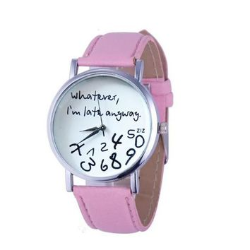 Whatever, I am Late Anyway Letter Watches