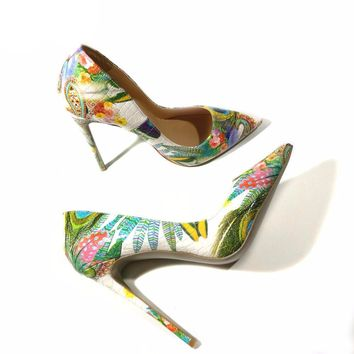 Printed Multi-Color Stiletto heels