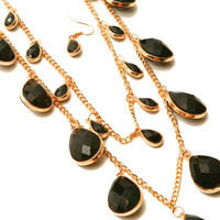 Layered Colored Stond Necklace