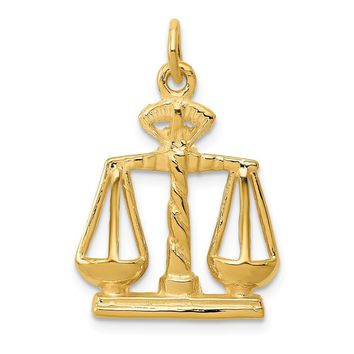 14K Yellow Gold Scales Of Justice Charm