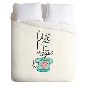 Leah Flores Call Me Maybe Duvet Cover