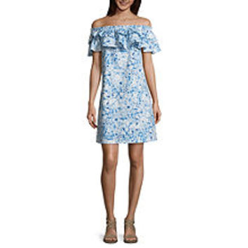 Belle + Sky Ruffle Off The Shoulder Dress - JCPenney