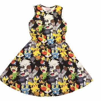 Pokemon Cute Group Skater Dress
