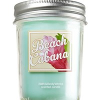 Mason Jar Candle Beach Cabana