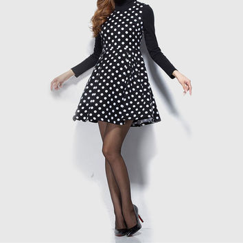 Fashion Polka Dots Sleeveless Bodycon Mini Dress