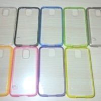 For Samsung Galaxy S5 Silicone Bumper & Clear Hard Acrylic Case