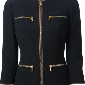 Alexander McQueen fitted zip trim jacket