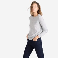 The Women's Cashmere Crew - Light Grey