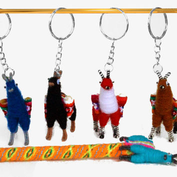 3x 6x 12x Tiny Llama Keychain, Llama magnet, pin, Llama pencil, ehtnic decoration, anniversary gifts, gift bag accessories, boho charm bag