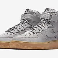 qiyif Nike Air Force 1 High Grey Suede & Gum