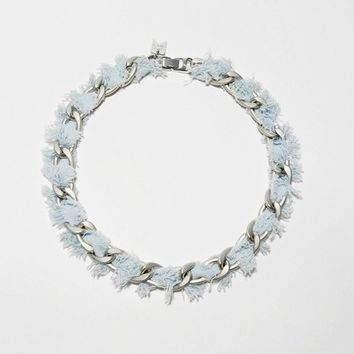 [C.F.] chunky denim chain necklace
