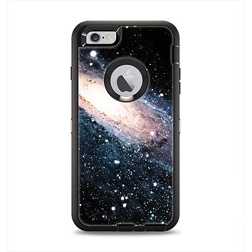 The Swirling Glowing Starry Galaxy Apple iPhone 6 Plus Otterbox Defender Case Skin Set