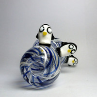 Adventure Time Penguin Glass Pipe