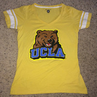 Sale!! Champion - UCLA BRUINS women's yellow tee shirt