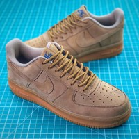 Nike Air Force 1 Low Af1 07 Flax Wheat Sport Shoes - Best Online Sale