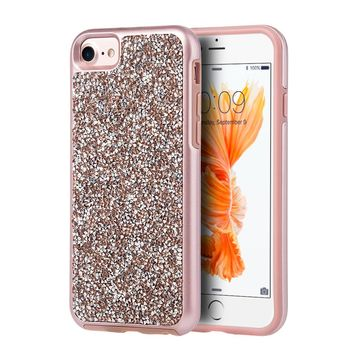 LUXMO Diamond Phone Case for iPhone 6 6S 7 8 Back Cover Hybrid Bumper Case Capa for 4.7 inch Ayfon Diamond Rock Crystal Case