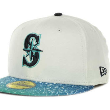 Seattle Mariners MLB Splatted Fitted 59FIFTY Cap