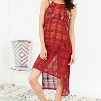 Out From Under High-Neck Cover Up- Coral
