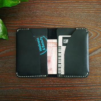 Minimal Leather Wallet/Mens leather wallet/bifold wallet/thin leather wallet/Peasonalized Wallet/Custom Wallet/Wallet with Initial/Best Gift