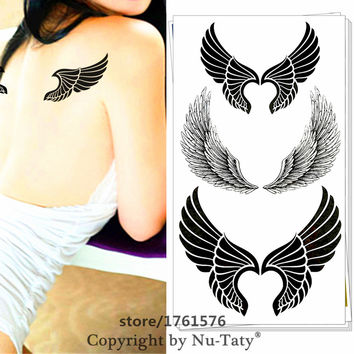 25 style Sexy Temporary Tattoo Body Art Angel Wings Designs Flash Tattoo Sticker Keep 3-5 days Waterproof 17*10cm