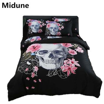 Hot New 3D Digital Printed Football Bedding Sets Duvet Cover+Pillowcase Bedspread Queen King size EU/CN/US skull customized 3pcs