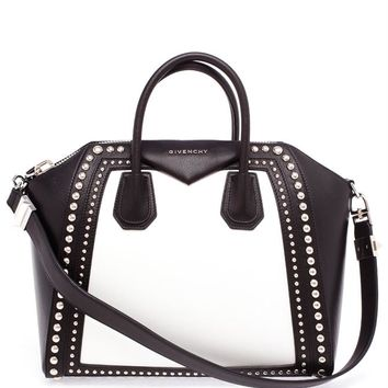 Medium Studded Leather Antigona Tote - GIVENCHY
