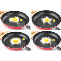 Creative Cooking tool Fried Egg Pancake Stainless Steel Heart Star Flower Ring round Shape Mould Mold modle Kitchen gadget