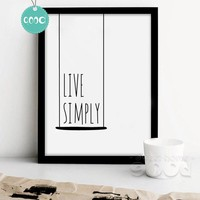 Simple Life Quote Canvas Art Print Painting Poster, Wall Pictures for Home Decoration, Wall Decor 250