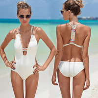 Sexy Swimsuit 2016 Fashion Women's One Piece Swimwear Bathing Monokini Push Up Padded