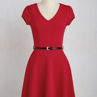 Mid-length Short Sleeves A-line Cooking Classy Dress