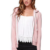 LA Hearts Shrunken Zip Hoodie at PacSun.com