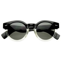 Amazon.com: Vintage Inspired Bold Circle Round Sunglasses w/ Key-Hole Bridge: Shoes