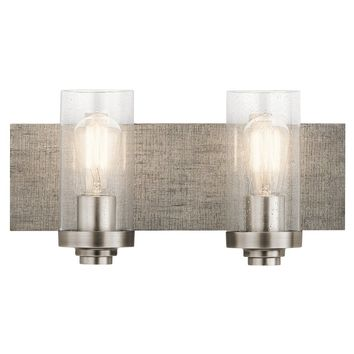 2-light Pewter Modern Bath/Vanity Light (Grey) Rustic