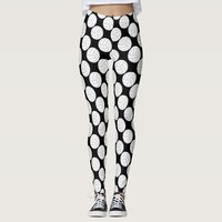 Black & White Volleyball Legging Compression Pants