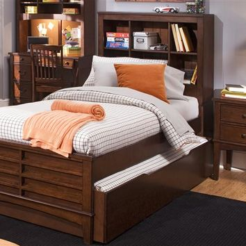 Cole Twin Size Bookcase Bed