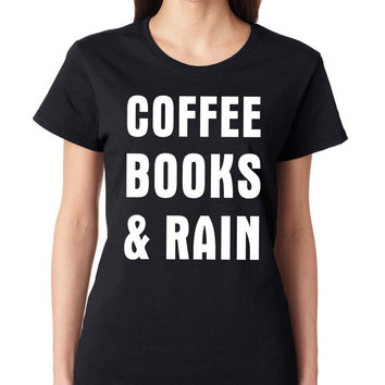 Coffee Books & Rain Crewneck Tee
