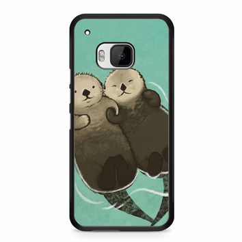 Significant Otters Otters Holding Hands HTC M9 Case