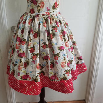 High - waist - pinup - rockabilly - rockabella - swing - circle - skirt