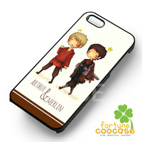 Merlin and arthur cute characters -sAr for iPhone 4/4S/5/5S/5C/6/6+,samsung S3/S4/S5/S6 Regular/S6 Edge,samsung note 3/4