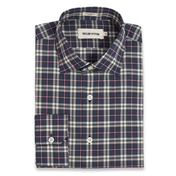 Navy Washed Poplin Plaid Hyde