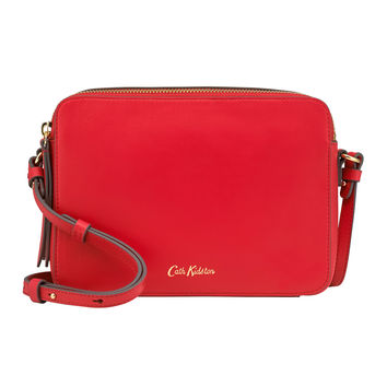 Cherry Leather Lozenge Cross Body Bag | Cross Body Bags | CathKidston
