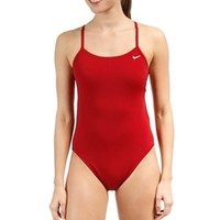 Nike Swim Polyester Cut-Out Tank Swimsuit at SwimOutlet.com - Free Shipping