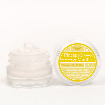 Whipped Lip Butter - Pineapple & Vanilla - Natural Icing for Your Lips