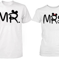 mr and mrs mickey mouse logo tshirt couple ----- size S,M,L,XL,2L,3XL