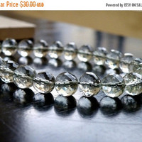 47% Off Outstanding Prasiolite Green Amethyst Gemstone Round Faceted Disco 8.5mm 13 beads