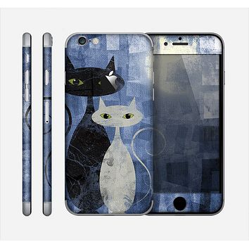 The Abstract Black & White Cats Skin for the Apple iPhone 6