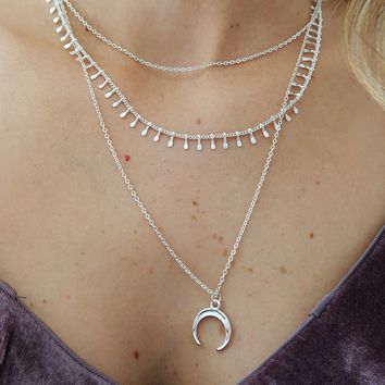 Moon Child Necklace: Silver